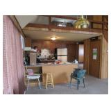 Open floor plan - kitchen and hallway