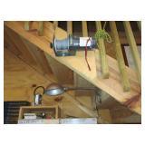 electric winch control for garage loft drop/trap door