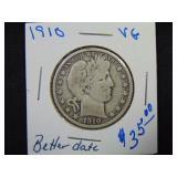 1910 Barber Half Dollar