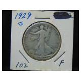 1929S Walking Liberty Half Dollar