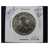 1960D Franklin Half Dollar