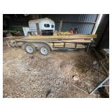 Bumper Pull Flatbed Tandem Axle Trailer 6ft x 16ft