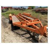 Pintle Hitch Triple Axle Equipment Trailer 7ft x 1
