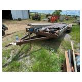 All Steel 2-Axle Bumper Pull Flatbed Trailer 7ft x