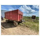Carroll Heider Iowa Grain Dump Wagon 6ft x 12ft