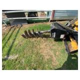 John Deere CA25 Skid Steer Post Hole Attachment