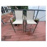 Pair of Counter Height Outdoor Chairs