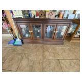 Buffet Cabinet w/Glass Doors & Glass Shelves