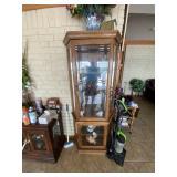 Tall Curio Cabinet w/Glass Shelves
