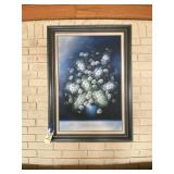 """Signed Framed Painting of Flowers 33""""L x 44""""H"""
