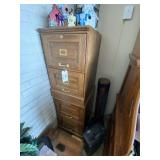 2-Drawer Wood Filing Cabinets-pair