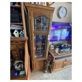 Pair Matching Wood Cabinets w/TV Stand