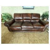 La-Z-Boy Leather Couch 7 ft