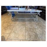 Metal Coffee Table w/Granite Top