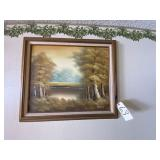 Cantrell Framed Painting Outdoor Scene