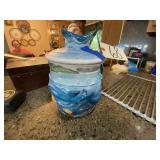 Wyland Studios Cookie Jar w/Lid Ocean Motif