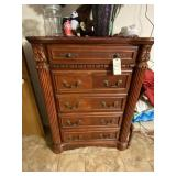 Wood 5-Drawer Chest of Drawers
