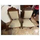 Wood Chairs w/Upholstered Cushion Seats and Backs