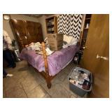 Full Size Bed Frame w/Mattress & Box