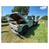 1958 Ford F900 Big Job Flat Bed Truck w/Gin Pole