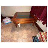 "Glass Top Coffee Table 36""x36"""