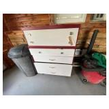 Wood Chest on Wheels 4 Drawers