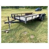 Bumper Pull 18ft Trailer 2-axle