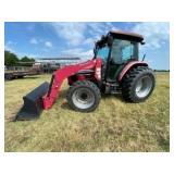 Mahindra 7060 4x4 Cab Tractor w/Mahindra 274
