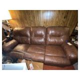Leather Couch w/2 Recliners approx 7ft