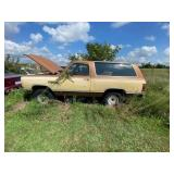 1985 Dodge Ramcharger 4x4 Shows approx 54k mi