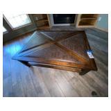 """Coffee Table w/Leather Inlay 54""""L x 40""""W x 17-1/2"""""""