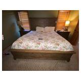Kincaid King Size Bed w/3-Layer Memory Foam