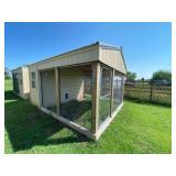 Wood Frame Dog House 4 ft w/Walk In Locking Door