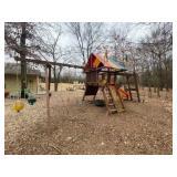 Rainbow Play System w/5 Swings, ladder, slide