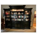 """Bookshelf w/cabinets-storage 115""""L x 18""""W x 94""""H"""