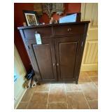 """Wood Cabinet 33""""L x 13-1/2""""W x 42""""H"""