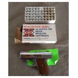 .25 Pistol w/ Box of Ammo