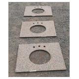 3 Granite Sink Slabs