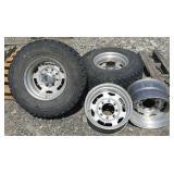2 Tires w/ 4 Rims