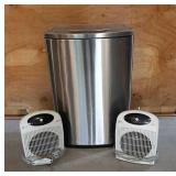 Trash Can / 2 Heaters