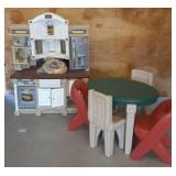 Play Kitchen/ Table and Chairs