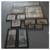 Variety of Hanging Pictures