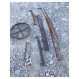 Vintage Wheel, Tripple Tree, Saws