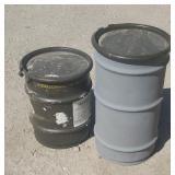 2 Storage Barrels w/ Lids