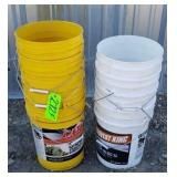 9-- 5 Gallon Plastic  Buckets