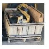 Crate of Misc. John Deere Engine Parts