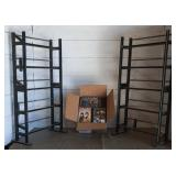 Box of DVDs & DVD Stands