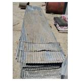 """Roofing Tin Appox 75 pieces.8,12 ft. 26"""" wide."""