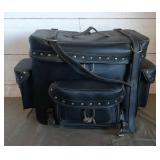 Motorcycle Leather Saddle Bag
