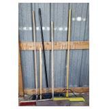 3-- Brooms, 1-- Scraper.